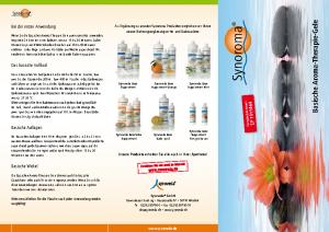 synoroma Basische-Aroma-Therapie-Gele Anwendungshinweise
