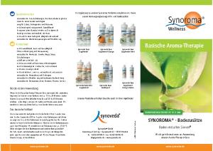 synoroma Basische-Aroma-Therapie Badezusätze Baden-mit-allen-Sinnen_Info-Flyer