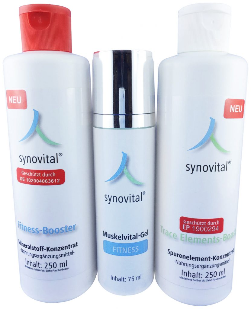 """Synovital Fitness-Booster, Muskelvital-Gel """"Fitness"""" & Synovital Trace-Elements-Booster"""