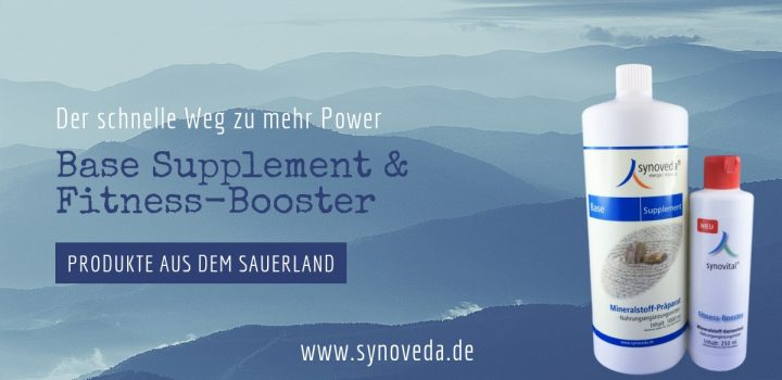 Synoveda Base Supplement und Synovital Fitness Booster