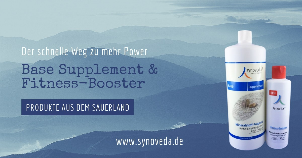 Unser Angebot: Synoveda Base Supplement und Synovital Fitness Booster