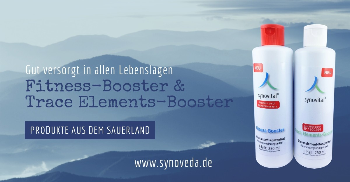 Unser Angebot: Synovital Fitness Booster & Synovital Trace Elements Booster