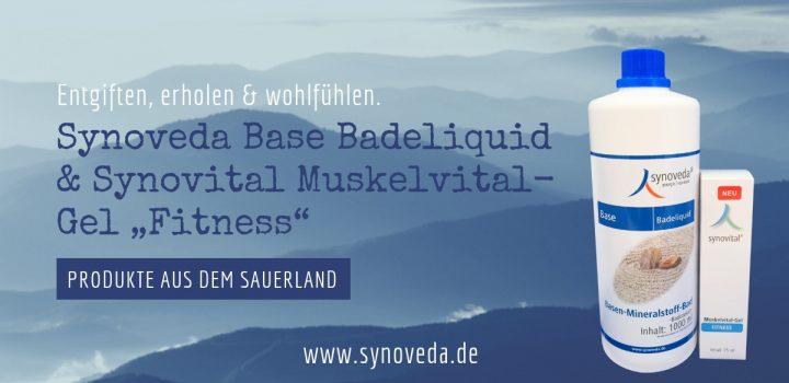 "Synoveda Base Badeliquid und Synovital Muskelvital-Gel ""Fitness"""