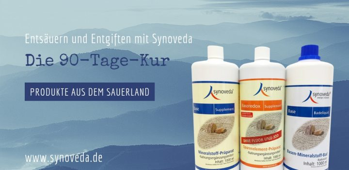 Synoveda 90 Tage Kur – Base Supplement, Basoredox Supplement ohne Fluor und Jod & Base Badeliquid