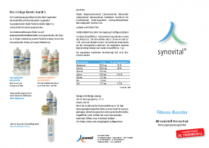 SYNOVEDA – Fitness Booster – Flyer