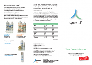 SYNOVEDA – Trace-Elements Booster – Flyer